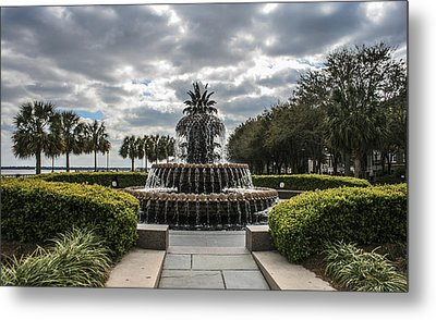 Pineapple Fountain Metal Print by Steven  Taylor