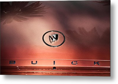 Pink Buick Metal Print by Merrick Imagery