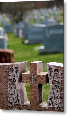 Pink Granite Tombstone Metal Print by Amy Cicconi