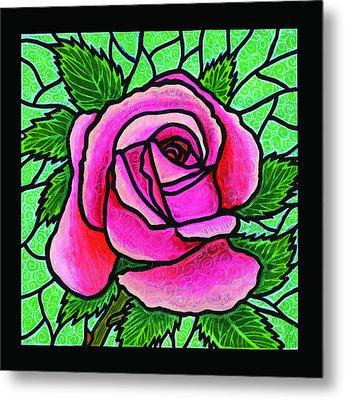 Pink Rose Number 5 Metal Print by Jim Harris