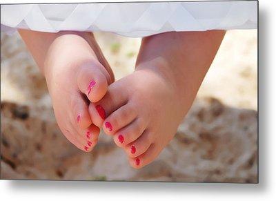 Pink Toes Metal Print
