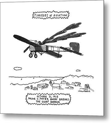 Pioneers Of Aviation October 21 Metal Print by Michael Crawford