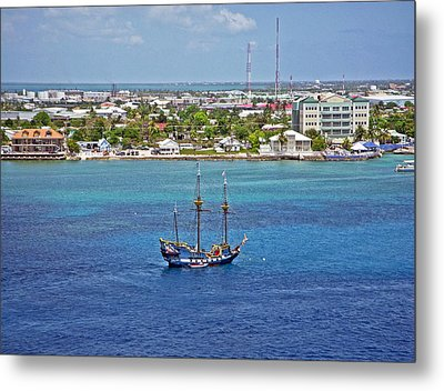 Pirate Ship In Cozumel Metal Print by Aimee L Maher Photography and Art Visit ALMGallerydotcom