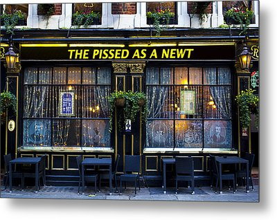Pissed As A Newt Pub  Metal Print by David Pyatt