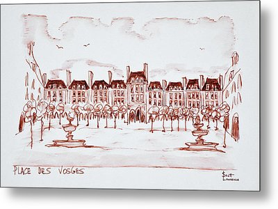 Place Des Vosges In The Historic Metal Print