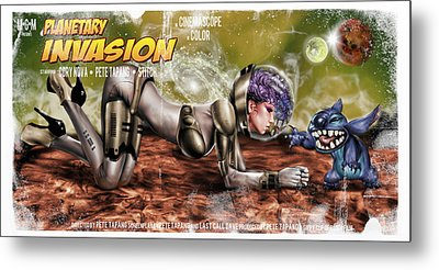 Planetary Invasion Metal Print by Pete Tapang