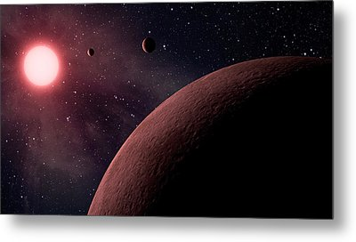 Planetary System Koi-961 Metal Print by Movie Poster Prints