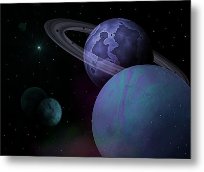 Planets Vs. Dwarf Planets Metal Print by Ricky Haug