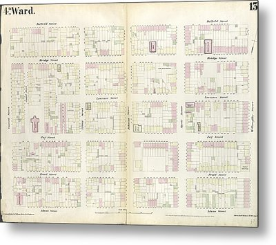 Plate 13 Map Bounded By Concord Street, Duffield Street Metal Print