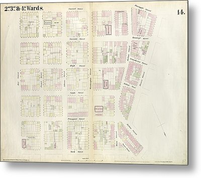 Plate 14 Map Bounded By Market, James Street, York Street Metal Print