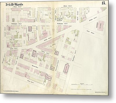 Plate 15 Map Bounded By Pineapple Street, Fulton Avenue Metal Print by Litz Collection