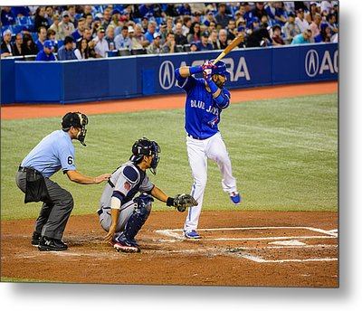 Play At The Plate Metal Print