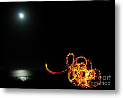 Playing With Fire 1 Metal Print by Theresa Ramos-DuVon