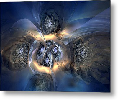 Metal Print featuring the digital art Pleasant Effusion by Casey Kotas