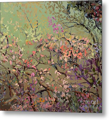 Plum Blossoms Metal Print by Ursula Freer