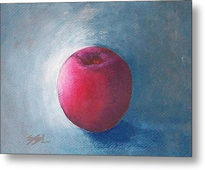 Metal Print featuring the painting Plum by Jane  See