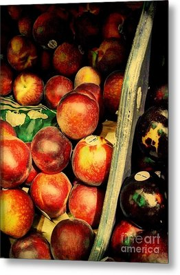 Plums And Nectarines Metal Print by Miriam Danar