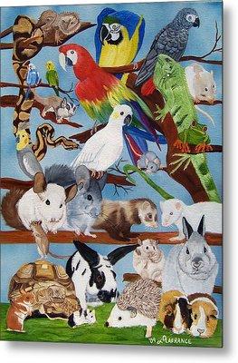 Pocket Pets Metal Print by Debbie LaFrance
