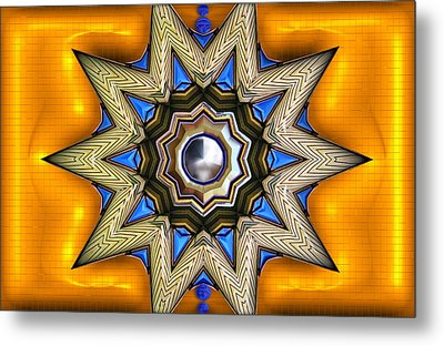 Point Of View - Gold Metal Print by Wendy J St Christopher