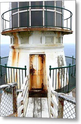 Point Reyes Historic Lighthouse Metal Print by Laurel Powell