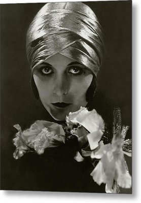 Pola Negri Wearing A Head Wrap Metal Print
