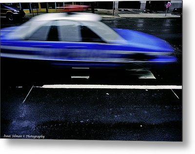 Police Chase Metal Print by Isaac Silman