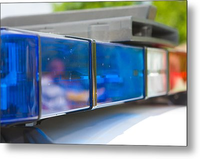 Police Lights Metal Print by Fizzy Image