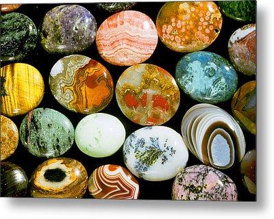 Polished Stones Metal Print by Louise K. Broman