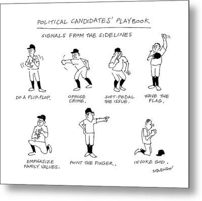 Political Candidates' Playbook Signals Metal Print
