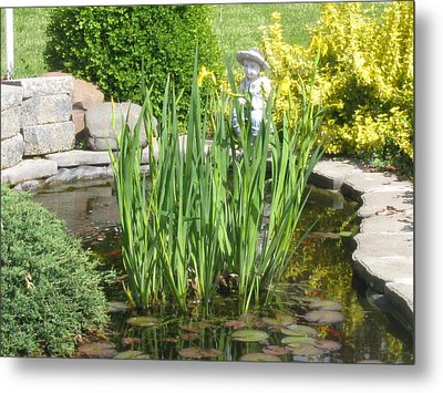 Metal Print featuring the photograph Pond Garden by Margaret Newcomb