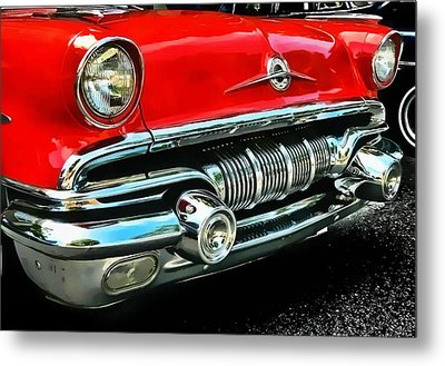 Metal Print featuring the photograph Pontiac Grill by Victor Montgomery