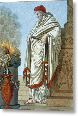 Pontifex Maximus, Illustration Metal Print by Jacques Grasset de Saint-Sauveur