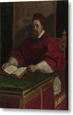 Pope Gregory Xv Guercino Giovanni Francesco Barbieri Metal Print by Litz Collection