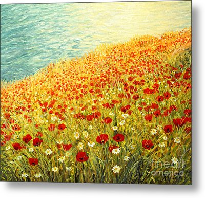 Poppies Of Kaliakra II Metal Print by Kiril Stanchev