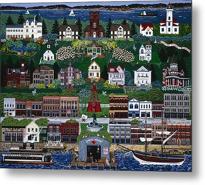 Metal Print featuring the painting Port Townsend by Jennifer Lake