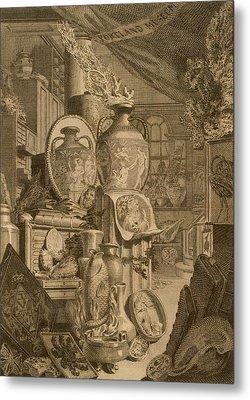 Portland Museum, 1786 Metal Print by Charles Burney