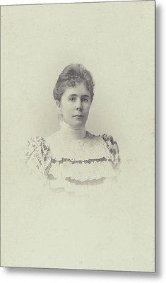 Portrait Charlotte Matthes-doorman. Koene Metal Print