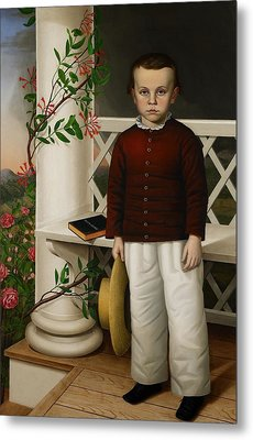 Portrait Of A Boy Metal Print by James B Read