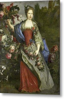 Portrait Of A Woman, According To Tradition Marie Louise Metal Print