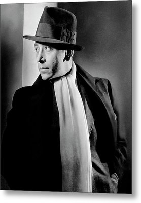 Portrait Of Actor George Raft Metal Print by Lusha Nelson
