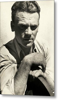 Portrait Of Actor James Cagney Metal Print