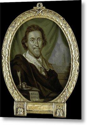 Portrait Of Adriaen Pietersz Van De Venne Metal Print by Litz Collection
