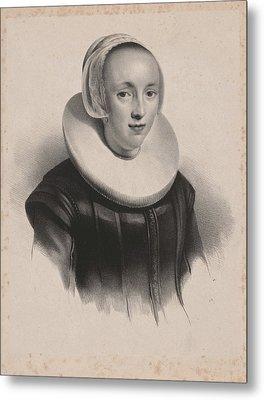 Portrait Of Anna Roemers Visscher, Anonymous Metal Print