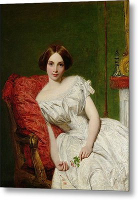 Portrait Of Annie Gambart Metal Print by William Powell Frith