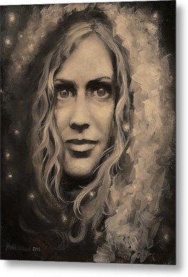 Portrait Of Annie Metal Print