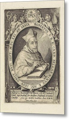 Portrait Of Cardinal Robert Bellarmine, At The Age Of 74 Metal Print