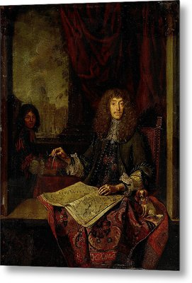 Portrait Of Carel Quina 1620-89, Knight Of The Holy Metal Print