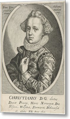 Portrait Of Christian Of Denmark And Norway Metal Print