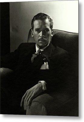 Portrait Of Douglas Fairbanks Jr Metal Print by Horst P. Horst
