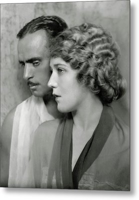 Portrait Of Douglas Fairbanks St. And Mary Metal Print